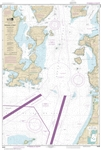 NOAA Nautical Chart 18429. Rosario Strait - Southern Part. NOAA maps portray water depths, coastlines, dangers, aids to navigation, landmarks, bottom characteristics and other features, as well as regulatory, tide, and other information. They contain all