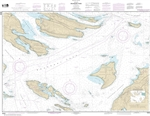 NOAA Chart 18432. Nautical Chart of Boundary Pass. NOAA charts portray water depths, coastlines, dangers, aids to navigation, landmarks, bottom characteristics and other features, as well as regulatory, tide, and other information. They contain all critic