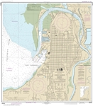 NOAA Nautical Chart 118444. Everett Harbor. NOAA maps portray water depths, coastlines, dangers, aids to navigation, landmarks, bottom characteristics and other features, as well as regulatory, tide, and other information. They contain all critical correc