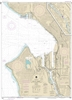 NOAA Chart 18446. Nautical Chart of Seattle Harbor, Elliott Bay and Duwamish Waterway. NOAA charts portray water depths, coastlines, dangers, aids to navigation, landmarks, bottom characteristics and other features, as well as regulatory, tide, and other