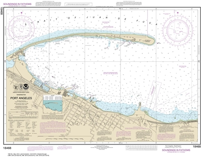 NOAA Nautical Chart 18468. Port Angeles Nautical Chart. NOAA maps portray water depths, coastlines, dangers, aids to navigation, landmarks, bottom characteristics and other features, as well as regulatory, tide, and other information. They contain all cri