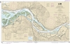 NOAA Chart 18523. Nautical Chart of Columbia River Harrington Point to Crims Island. NOAA charts portray water depths, coastlines, dangers, aids to navigation, landmarks, bottom characteristics and other features, as well as regulatory, tide, and other in