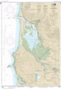 NOAA Chart 18558. Nautical Chart of Tillamook Bay. NOAA charts portray water depths, coastlines, dangers, aids to navigation, landmarks, bottom characteristics and other features, as well as regulatory, tide, and other information. They contain all critic