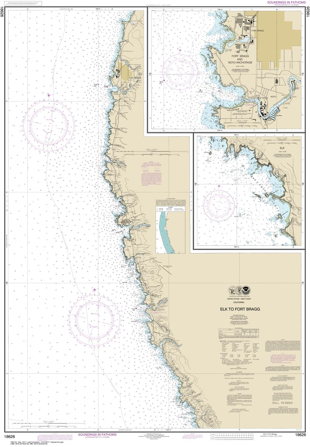 18626 Elk to Fort Bragg Nautical Chart