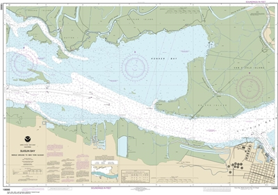 NOAA Chart 18666. Nautical Chart of Suisun Bay - Middle Ground to New York Slough. NOAA charts portray water depths, coastlines, dangers, aids to navigation, landmarks, bottom characteristics and other features, as well as regulatory, tide, and other info