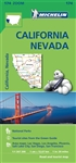 California & Nevada Travel Map. Michelin USA California, Nevada Map 174 (scale: 1:1,267,000) part of Michelin's brand-new US regional map series with bright green covers zooms in close for comprehensive coverage of California and Nevada, as well as wester