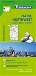 Pacific NW USA travel & road map. Michelin USA Pacific Northwest Map 171 part of Michelin's brand-new US regional map series with bright green covers zooms in close for comprehensive coverage of Washington and Oregon, extending up over the Canadian border