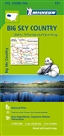 Idaho, Montana & Wyoming Travel Map. Michelin USA Big Sky Country Map 172 (scale: 1:1,267,000) part of Michelin's brand-new US regional map series with bright green covers zooms in close for comprehensive coverage of Idaho, Montana and Wyoming. It contain