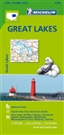 Great Lakes of Canada & USA Travel & Road Map. This map covers the great lakes of Ontario, Huron, Erie, Michigan and Superior. It contains city maps for easy driving in Buffalo, Chicago, Cleveland, Detroit, Milwaukee, and Toronto. Michelin star-rated sigh