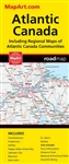 Atlantic Canada travel road map. Detailed indices make for quick and easy location of destinations. It's a must-have for anyone traveling in Atlantic Canada. The Atlantic Canada Map is a Full Color Map of the Province of Atlantic Canada. Regional Maps inc