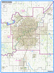 Edmonton Regional Wall Map with Postal Codes. This new regional base map of Edmonton and the surrounding area will help you quickly and easily find the first three digits of the Postal Codes, or Forward Sortation Area (FSA). Includes Leduc, Beaumont, Calm