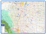 Central Alberta Regional Wall Map. This regional road map of Central Alberta is a current map with parks, places (cities, towns, villages and hamlets), highways, major roads, township and range roads, First Nations and Metis Settlements, Counties, MD's (