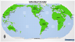 Super Cities of the World - Map Blocks. Did you enjoy playing with Lego or Mega Blocks as a kid? This world map is a exciting take of that concept using map blocks to compile this new map. It shows all super cities of the world with a population exceeding