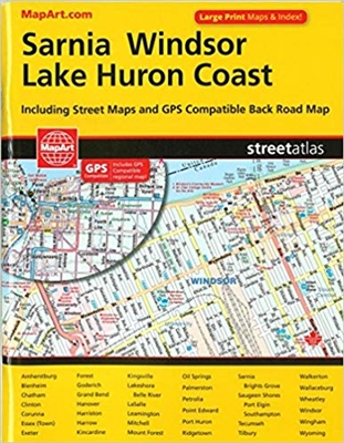 This compact atlas includes street maps for over 40 towns and cities as well as regional maps.  It also has lists of points of interest, care centres, and golf courses.  Provides detailed index at the back.