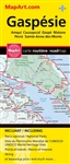 Bas-St-Laurent Gaspesie road map. Bas-St-Laurent / Gaspesie and Rimouski/Riviere-du-Loop are included on the same foldout map. Includes city maps of: Amqui, Causapscal, Gaspe, Iles-de-la-Madeleine, La Pocatiere, Matane, Mont-Joli, Perce, Rimouski, Riviere