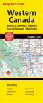 Western Canada travel & road map. Features detailed provincial maps of British Columbia, Alberta, Saskatchewan and Manitoba Regional maps of Calgary, Edmonton, Regina, Saskatoon, Vancouver and Winnipeg. This map offers unbeatable accuracy and reliability