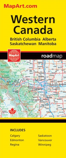 Road Map Of Western Canada Provinces Western Canada travel & road map. Features detailed provincial
