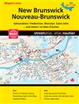 New Brunswick and PEI street atlas. Includes the communities of Alberton, Bathurst, Calais ME, Campbellton, Charlottetown, Cornwall, Dieppe, Drummond, Edmundston, Fredericton, Georgetown, Grand Bay-Westfield, Grand Falls, Hampton, Kensington, Madawaska ME