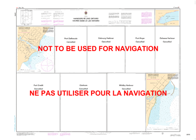 2070 - Harbours in Lake Ontario - Canadian Hydrographic Service (CHS)'s exceptional nautical charts and navigational products help ensure the safe navigation of Canada's waterways. These charts are the 'road maps' that guide mariners safely from port to p