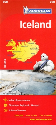 Iceland Travel & Road map. MICHELIN National Map Iceland will give you an overall picture of your journey thanks to its clear and accurate mapping scale 1:500,000. Our map will help you easily plan your safe and enjoyable journey in Iceland thanks to a co