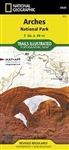 Arches National Park Utah map 211T. With over 2,000 natural stone arches and hundreds of other extraordinary geological formations, Arches National Park is a red rock wonderland. National Geographics Trails Illustrated map of the park combines unmatched