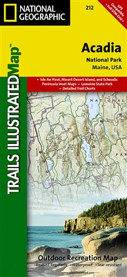 212 Acadia National Park National Geographic Trails Illustrated