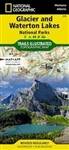 Glacier & Waterton Lakes National Parks Hiking Map. Includes Apgar Mountains, Bowman Lake, Flathead National Forest, Flathead Range, Glacier, Great Bear Wilderness, Kintla Lake, Lake McDonald, Lake Sherburne, Lewis & Clark National Forest, Lewis Range, Li