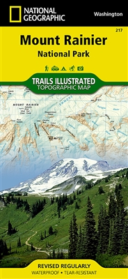 217 Mount Rainier National Park National Geographic Trails Illustrated