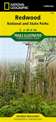 218 Redwood National Park National Geographic Trails Illustrated