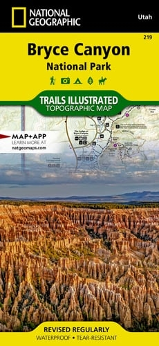 Bryce Canyon National Park Utah map 219T. National Geographics ...