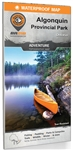 Algonquin Provincial Park Ontario adventure map. Printed on tear resistant and waterproof paper, this Ontario topographic map covers Algonquin Park like no other map.This next-generation park map covers the entire park area on one side, with all if its ca