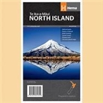 New Zealand - North Island Travel & Road Map. This map shows cities such as Auckland, Plymouth, Tauranga and Wellington. Explore everything from Mt. Taranaki to 90 Mile Beach. Hema maps are reliable and shows lots of detail. This map has a turnaround desi