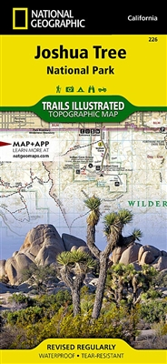 Joshua Tree National Park Trail Map.  This expertly researched map features key areas of interest including Black Rock Canyon, Lost Horse Valley, Indian Cove, Cottonwood, Chuckwalla Valley, and the Pinto Mountains. Other features found on this map include