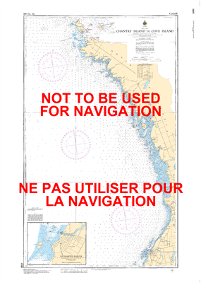 2292 - Chantry Island to Cove Island - Canadian Hydrographic Service (CHS)'s exceptional nautical charts and navigational products help ensure the safe navigation of Canada's waterways. These charts are the 'road maps' that guide mariners safely from port
