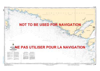 2298 - Cove Island to Duck Islands - Canadian Hydrographic Service (CHS)'s exceptional nautical charts and navigational products help ensure the safe navigation of Canada's waterways. These charts are the 'road maps' that guide mariners safely from port t