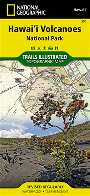 230 Hawaii Volcanoes National Park National Geographic Trails Illustrated. The map includes the entire national park area, including Kilauea Caldera, Makaopuhi Crater, Napau Crater, Chain of Craters East Rift Zone, Kapapala, Hawaii Volcanoes National Park