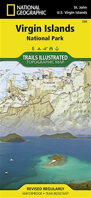 236 Virgin Islands National Park National Geographic Trails Illustrated