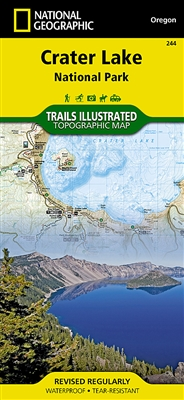 244 Crater Lake National Park National Geographic Trails Illustrated