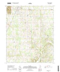 Ardmore Alabama - Tennesseee - 24k Topo Map