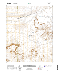 Adamana Arizona - 24k Topo Map