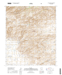Agua Caliente Hill Arizona - 24k Topo Map