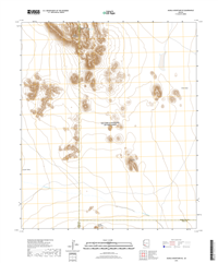 Aguila Mountains SE Arizona - 24k Topo Map