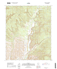 Alchesay Flat Arizona - 24k Topo Map