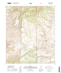 Alma Mesa Arizona - New Mexico - 24k Topo Map