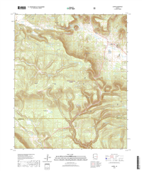 Alpine Arizona - 24k Topo Map