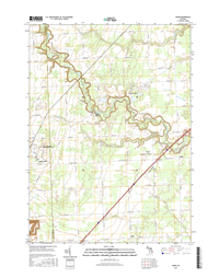 Adair Michigan - 24k Topo Map