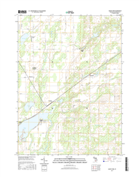 Adams Park Michigan - 24k Topo Map