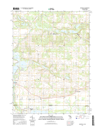 Adamsville Michigan - Indiana - 24k Topo Map