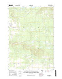 Addis Creek Michigan - 24k Topo Map