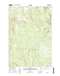 Afton Michigan - 24k Topo Map